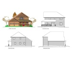 Elevation of 2 story cottage A-1